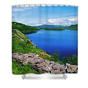 Lough Caragh, Co Kerry, Ireland Shower Curtain