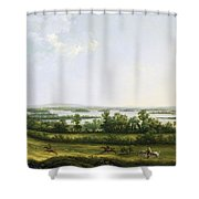 Lough Erne From Knock Ninney - With Bellisle In The Distance Shower Curtain