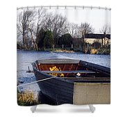 Lough Neagh, Co Antrim, Ireland Boat In Shower Curtain