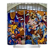 Louis Armstrong Airport Shower Curtain
