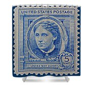 Louisa May Alcott Postage Stamp  Shower Curtain
