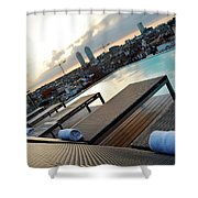 Lounging Poolside Shower Curtain