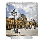 Louvre Museum Shower Curtain by Elena Elisseeva