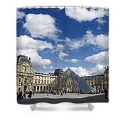Louvre Museum. Paris Shower Curtain