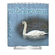 Love - I Love You Greeting Card - Mute Swan Shower Curtain