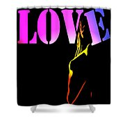 Love And Shadows Shower Curtain
