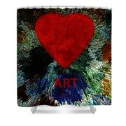 Love Art 3 Shower Curtain