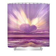 Love At Sunset Shower Curtain