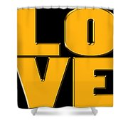 Love In Gold Shower Curtain