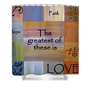Love Is Everything Shower Curtain