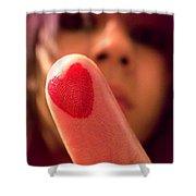 Love Me Love My Finger Shower Curtain