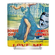 Love Me Or Leave Me Shower Curtain by Georgia Fowler