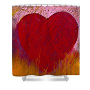 Love On Fire Shower Curtain