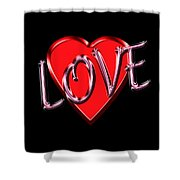 Love Pink And Red  Shower Curtain