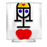 Love U Kid Shower Curtain