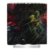 Lovebirds In The Night 01 Shower Curtain