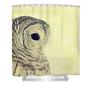 Lovely Lucy Barred Owl Shower Curtain