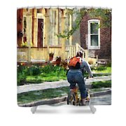 Lovely Spring Day For A Ride Shower Curtain
