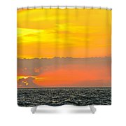 Lovely Sunset Over The Sea Shower Curtain