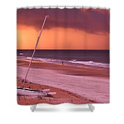 Lovers Embrace On The Shoreline Shower Curtain