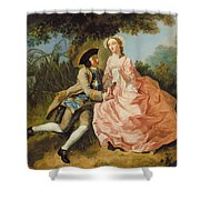 Lovers In A Landscape Shower Curtain