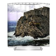 Lovrijenac Tower In Dubrovnik Shower Curtain