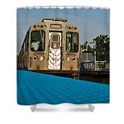 Low Angle Train Shower Curtain