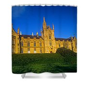 Low Angle View Of A Building, Magee Shower Curtain
