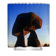 Low Angle View Of Proleek Dolmen Shower Curtain