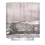 Low Clouds On The Colorado Rocky Mountain Foothills 3 Bw Shower Curtain