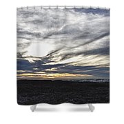 Low Hanging Clouds At Sunset Shower Curtain