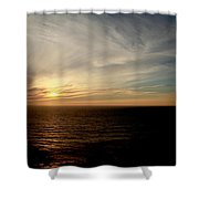Low Sun Over The Pacific Shower Curtain
