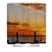 Low Tide At The Lake Shower Curtain