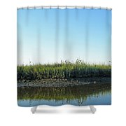 Low Tide In The Tidal Creek Shower Curtain