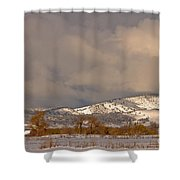 Low Winter Storm Clouds Colorado Rocky Mountain Foothills 2 Shower Curtain