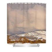 Low Winter Storm Clouds Colorado Rocky Mountain Foothills 4 Shower Curtain