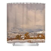 Low Winter Storm Clouds Colorado Rocky Mountain Foothills 5 Shower Curtain