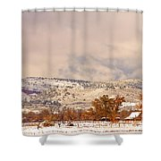 Low Winter Storm Clouds Colorado Rocky Mountain Foothills 6 Shower Curtain