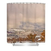 Low Winter Storm Clouds Colorado Rocky Mountain Foothills 7 Shower Curtain
