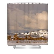 Low Winter Storm Clouds Colorado Rocky Mountain Foothills Shower Curtain
