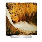 Lower Falls Yellowstone River Shower Curtain