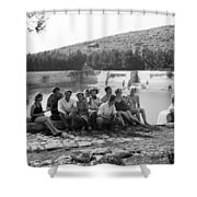 Lower Pool Shower Curtain
