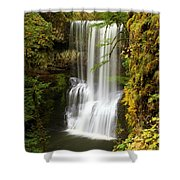 Lower South Falls At Silver Falls Shower Curtain