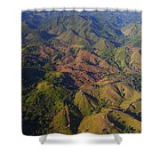 Lowland Tropical Rainforest Cleared Shower Curtain