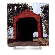 Loy's Station Covered Bridge Shower Curtain