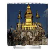 Luang Prabang Temple Shower Curtain