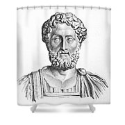 Lucius Commodus (161-192 A.d.) Shower Curtain by Granger