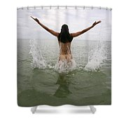 Lucky Cole Biker Outpost On Loop Road In The Florida Everglades 695      Shower Curtain