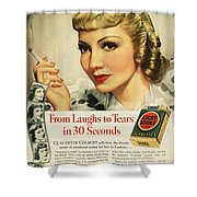 Luckys Cigarette Ad, 1938 Shower Curtain