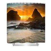 Luffenholtz Winter Sunset 1 Shower Curtain